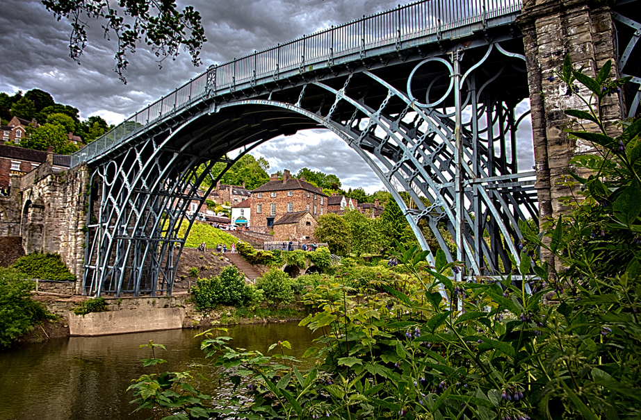The namesake bridge at Ironbridge Gorge, England