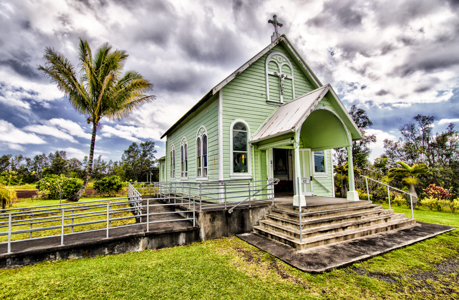The Star of the Sea Painted Church in Kalapana, Hawai'i