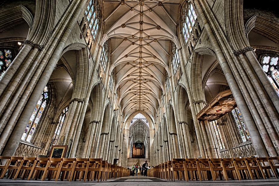 Inside York Minster in York England