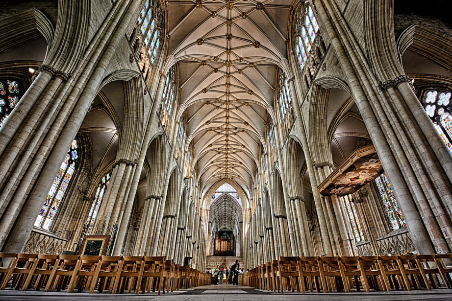 Inside York Minster in York England