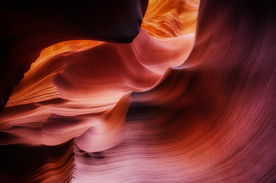 Waves of Navajo sandstone in Lower Antelope Canyon