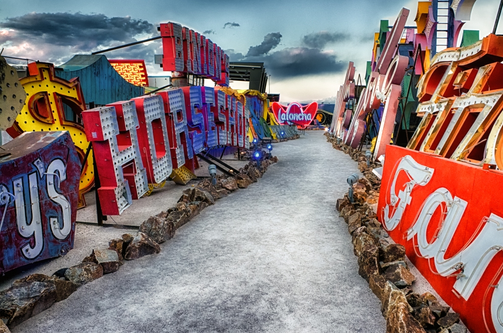 The Boneyard Park at the Neon Museum