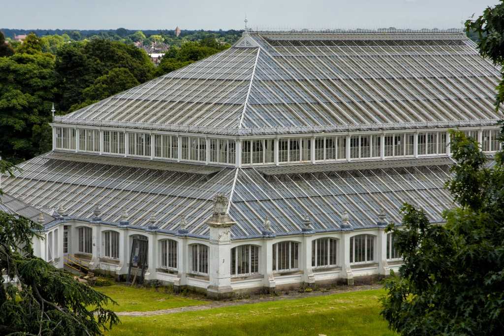 The Temperate House in the midst of renovation