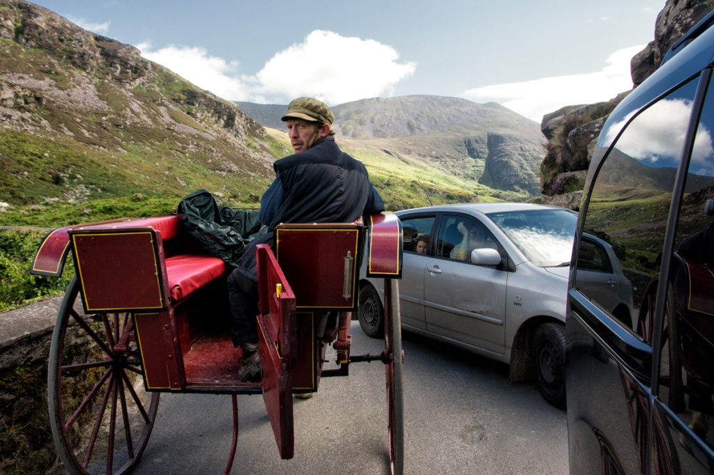 Traffic jam on the Gap of Dunloe