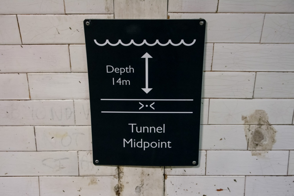 The deepest point of the tunnel
