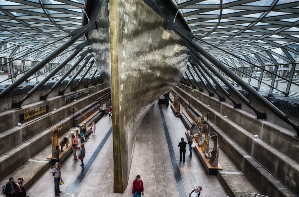Cutty Sark as viewed from below