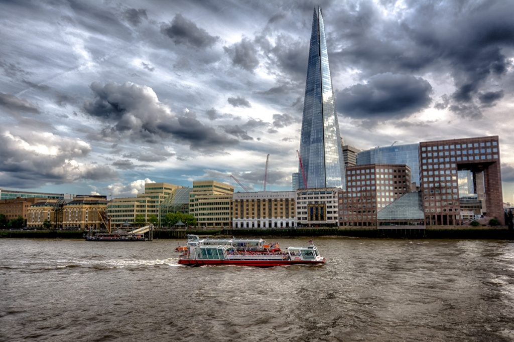 The Shard viewed from the Thames.