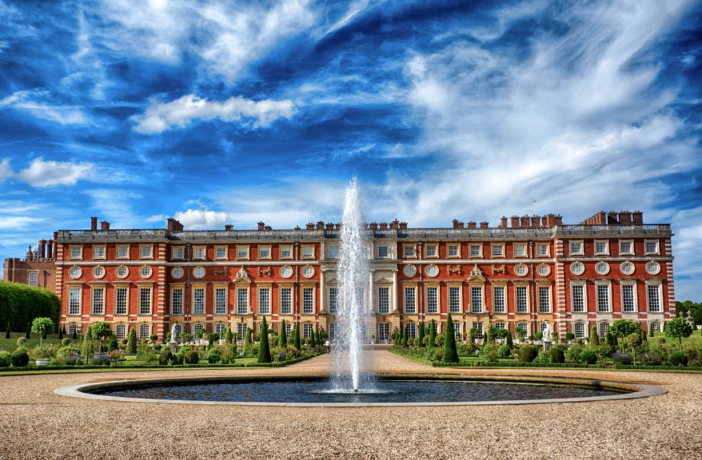 The riverside gardens at Hampton Court Palace