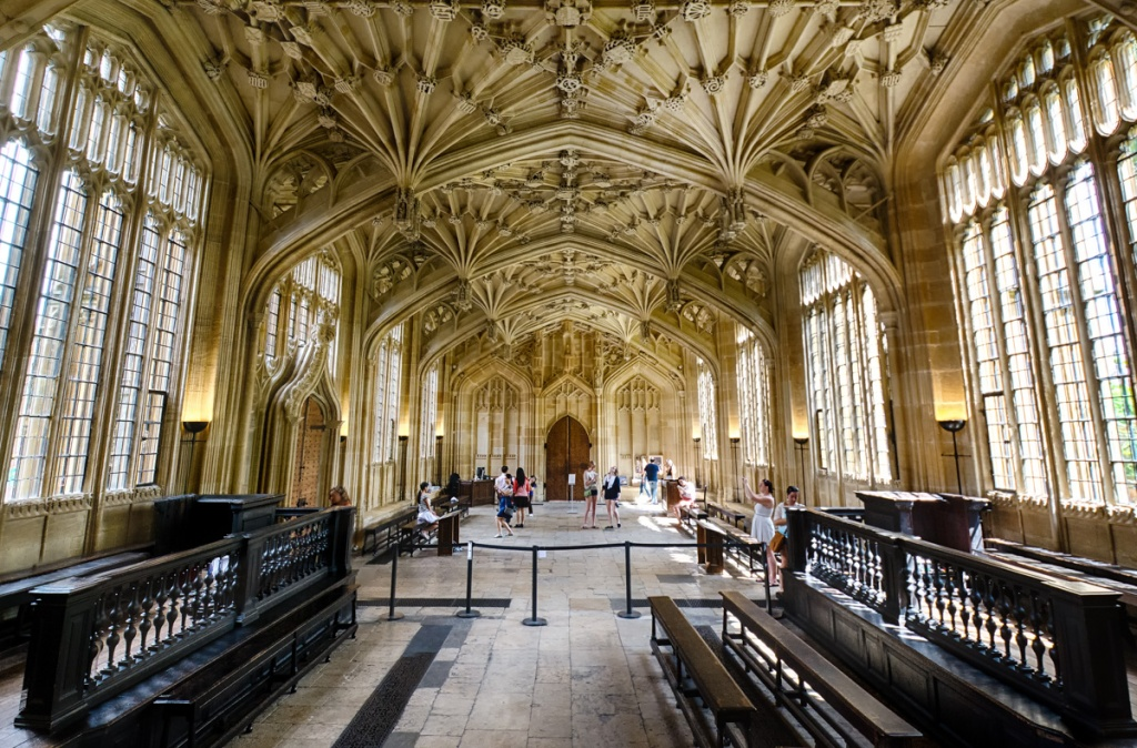 Fan vaulting inside the Bodleian Library