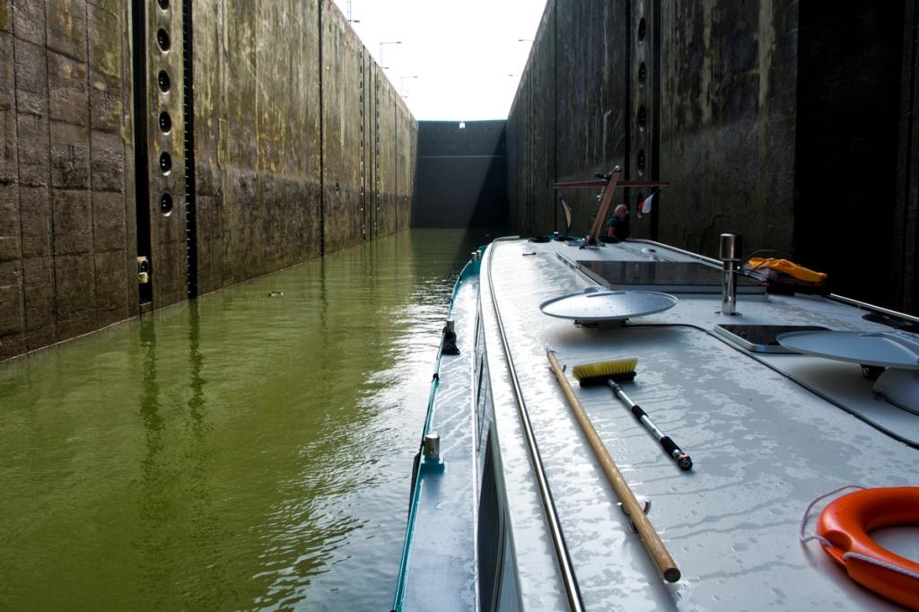 Wanderlust floats inside the lock.
