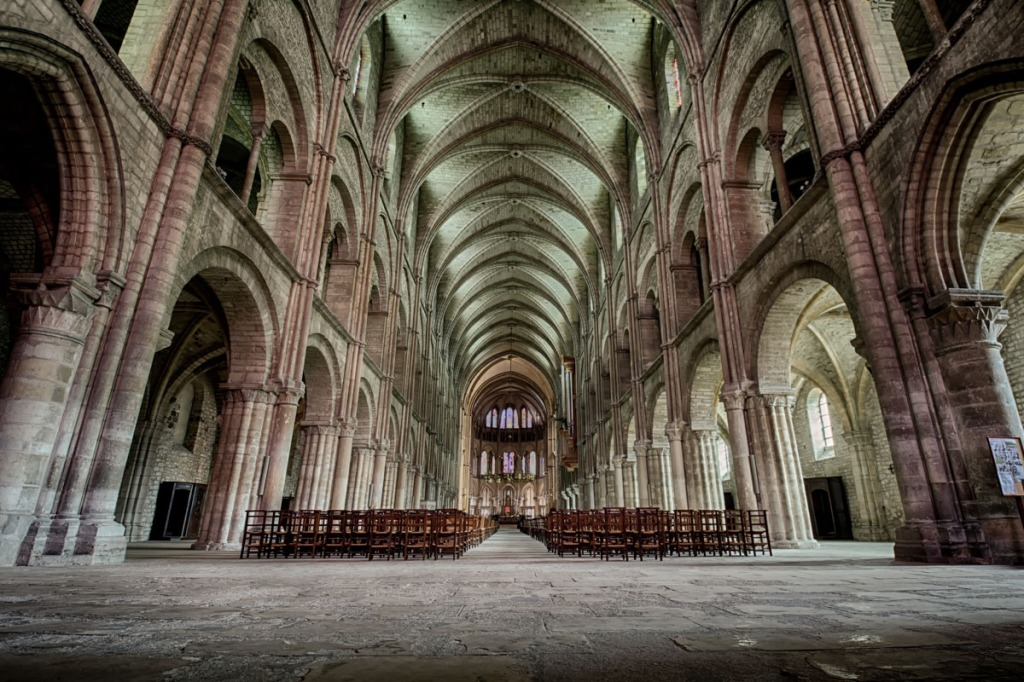 Inside Abbey of Saint-Remi, processed differently