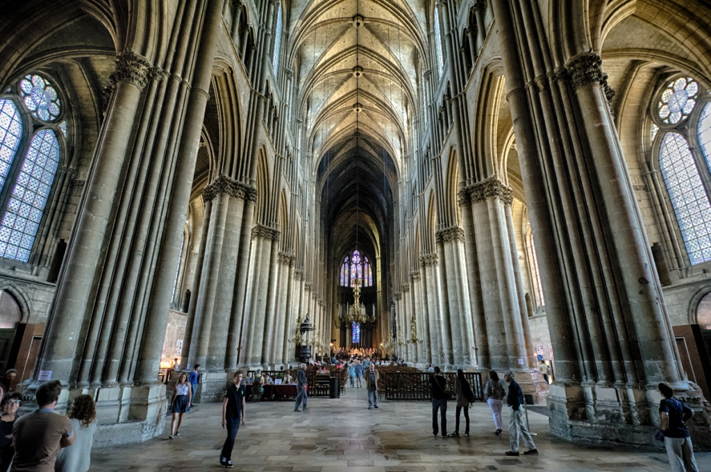 Inside Reims' Cathedral