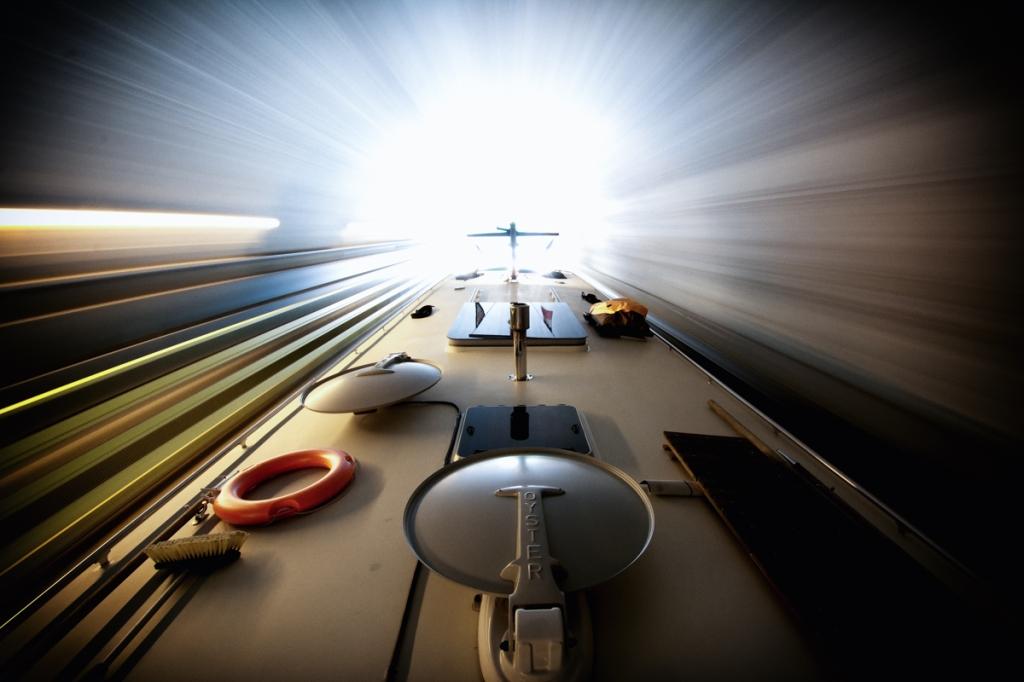 Wanderlust achieves light speed in the Chalifert Tunnel.