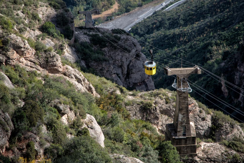 One way to get to the abbey is the aerial tramway.