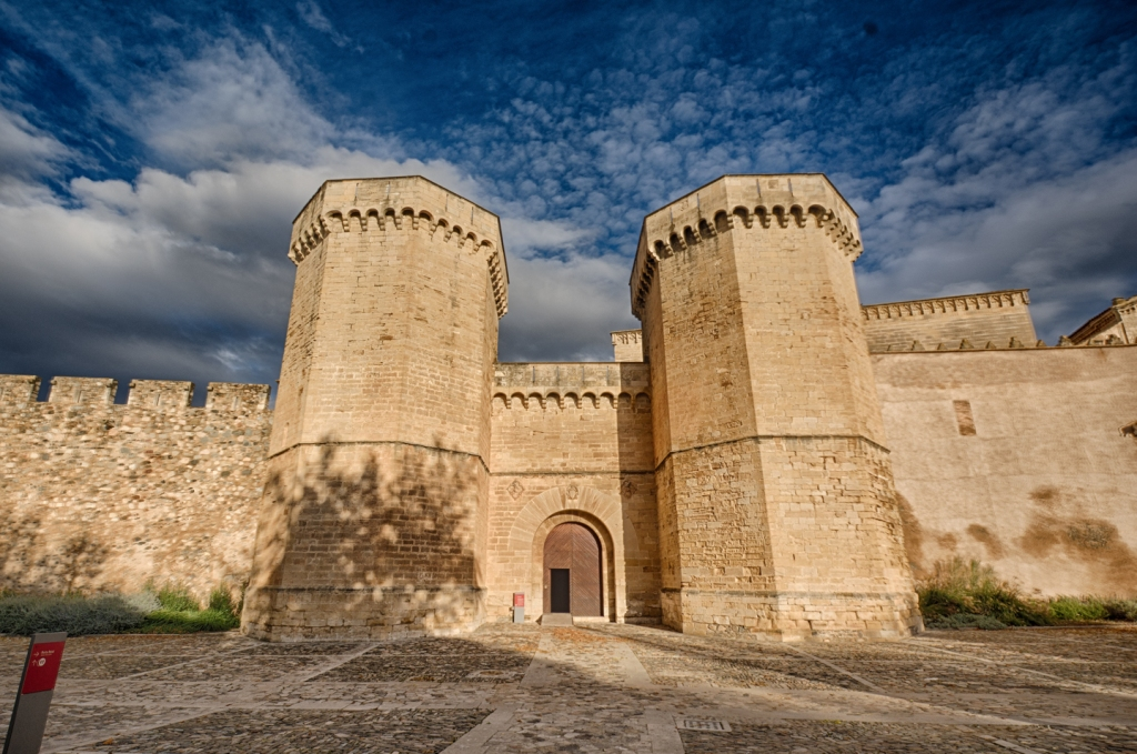Fortified walls protect the monastery