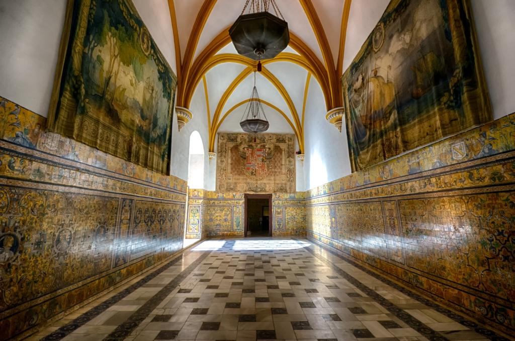 Tiled rooms inside Reales Alcázares de Sevilla