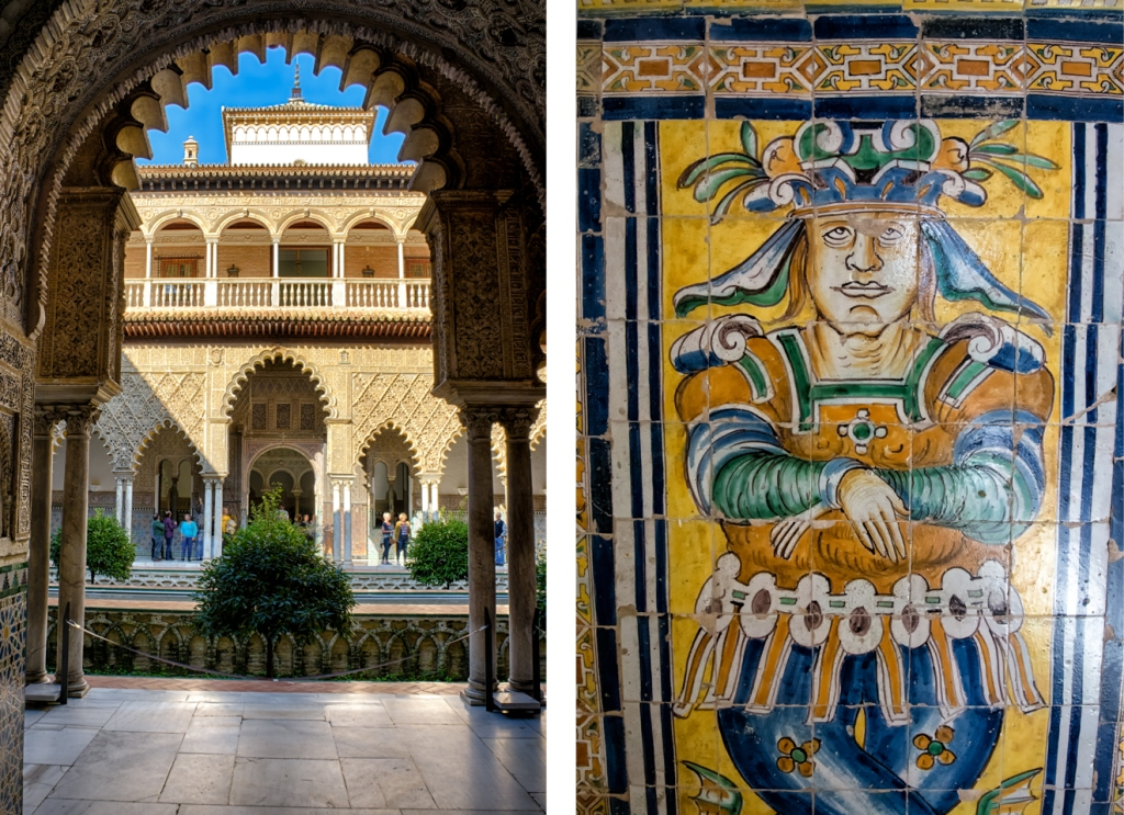 Details inside the Alcazar