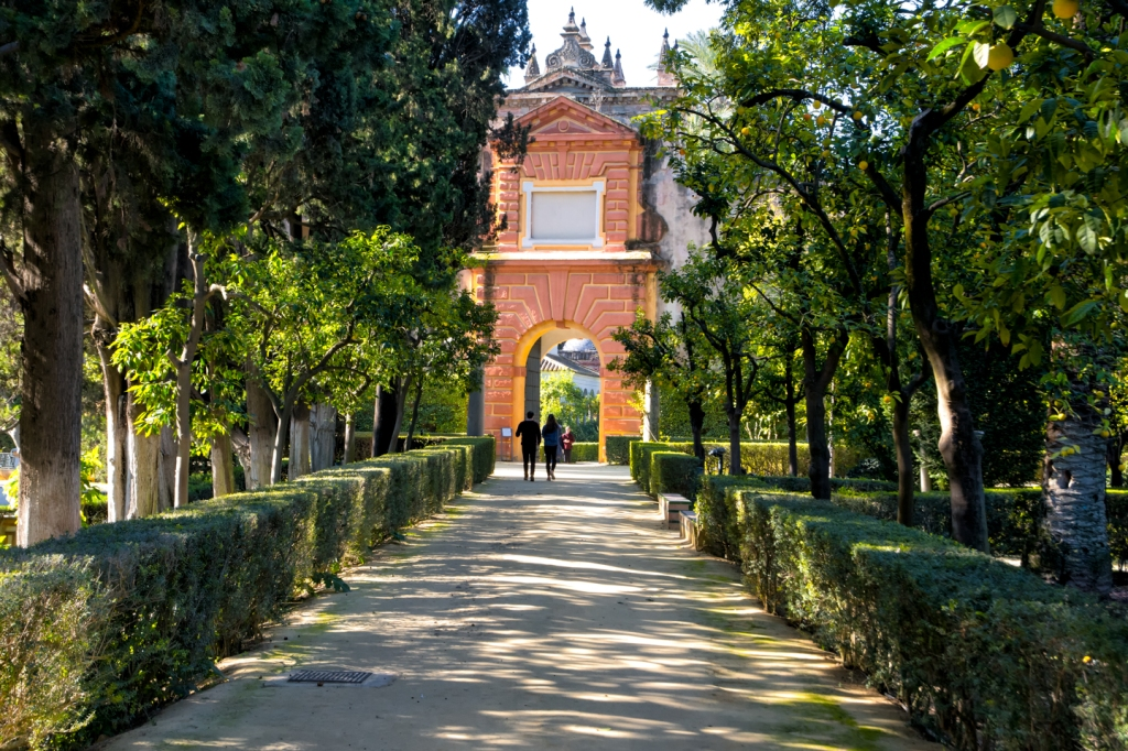 Extensive gardens surround the royal palace.