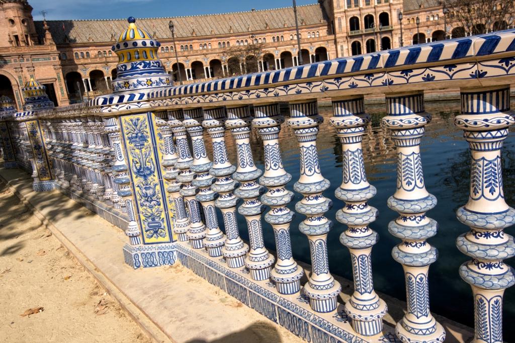 Railing details at Plaza de España