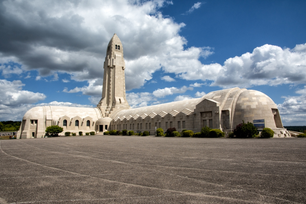 The Douaumont ossuary, the final resting place of the bones of countless French and German soldiers