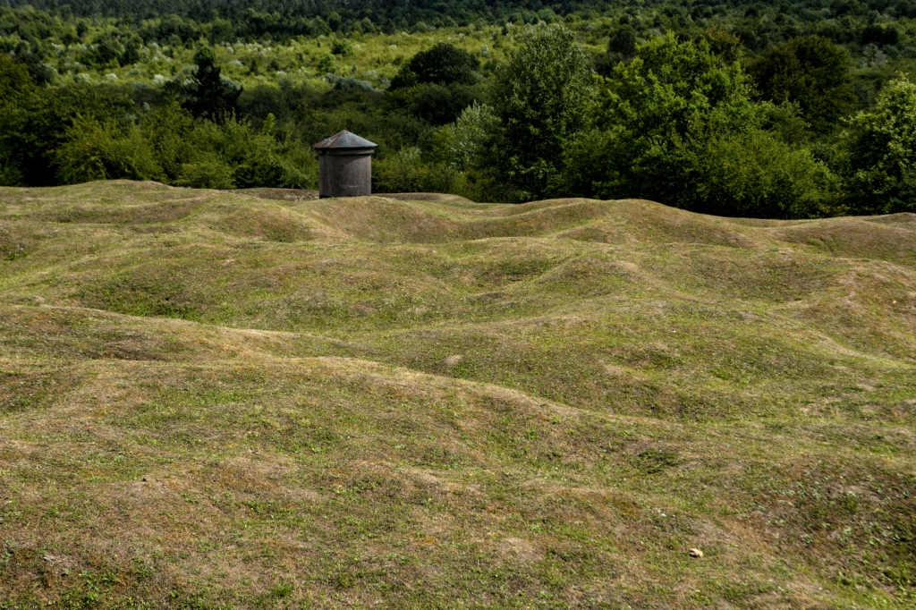 For miles and miles, the land shows the damage from the shelling that occurred 100 years ago.