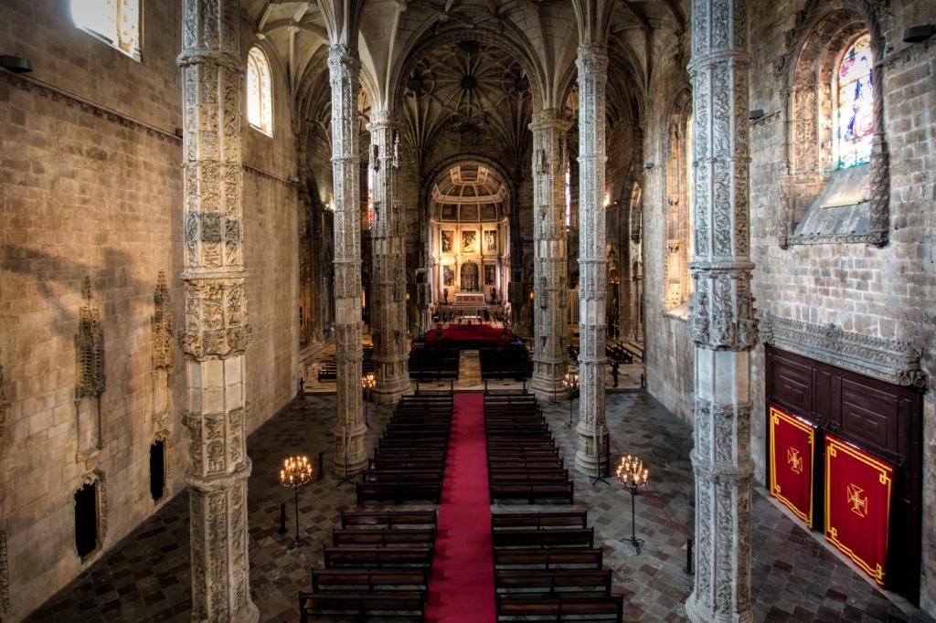 Inside the monastery's main chapel.