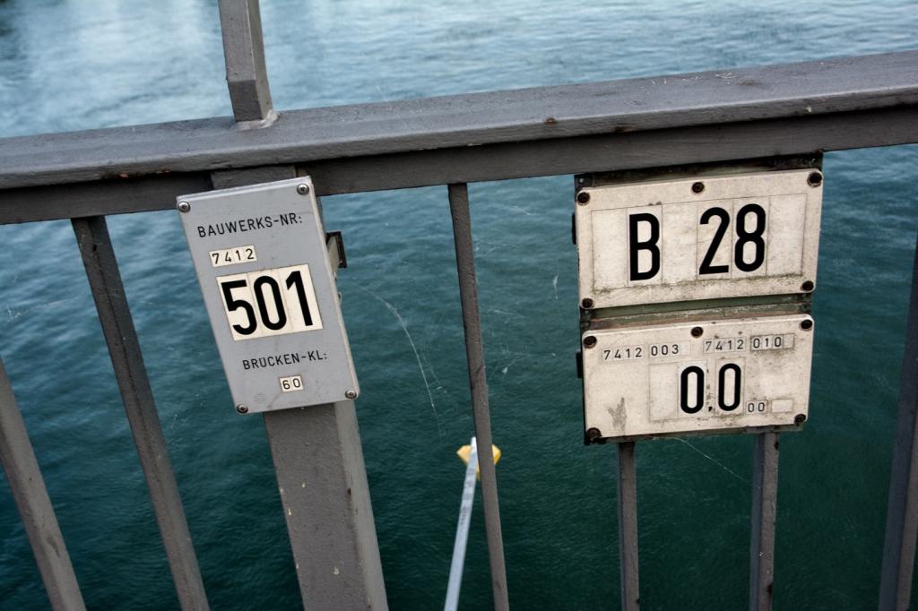 Kilometer 501 in Germany and 0 in France