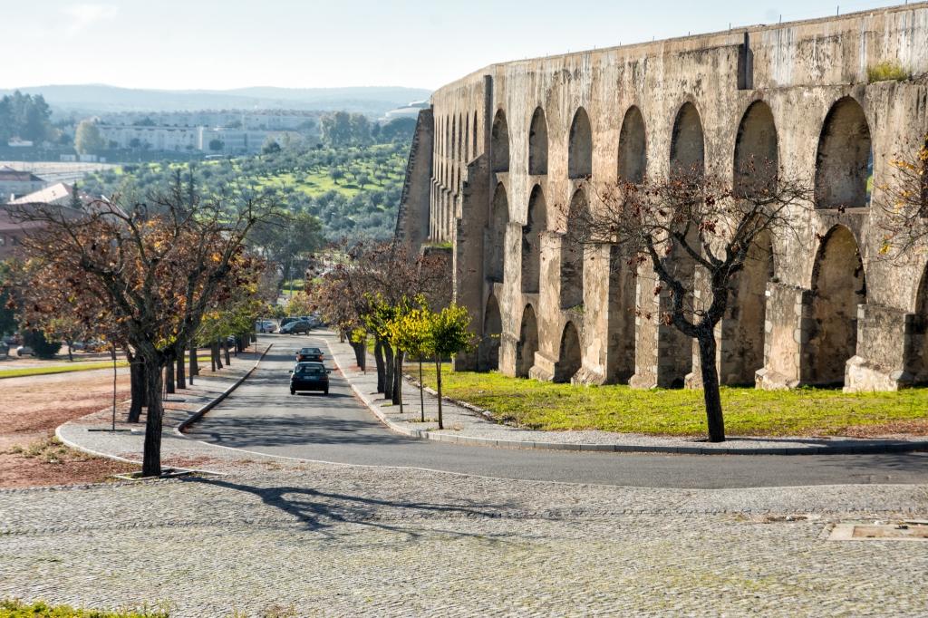 The aqueduct in Elvas
