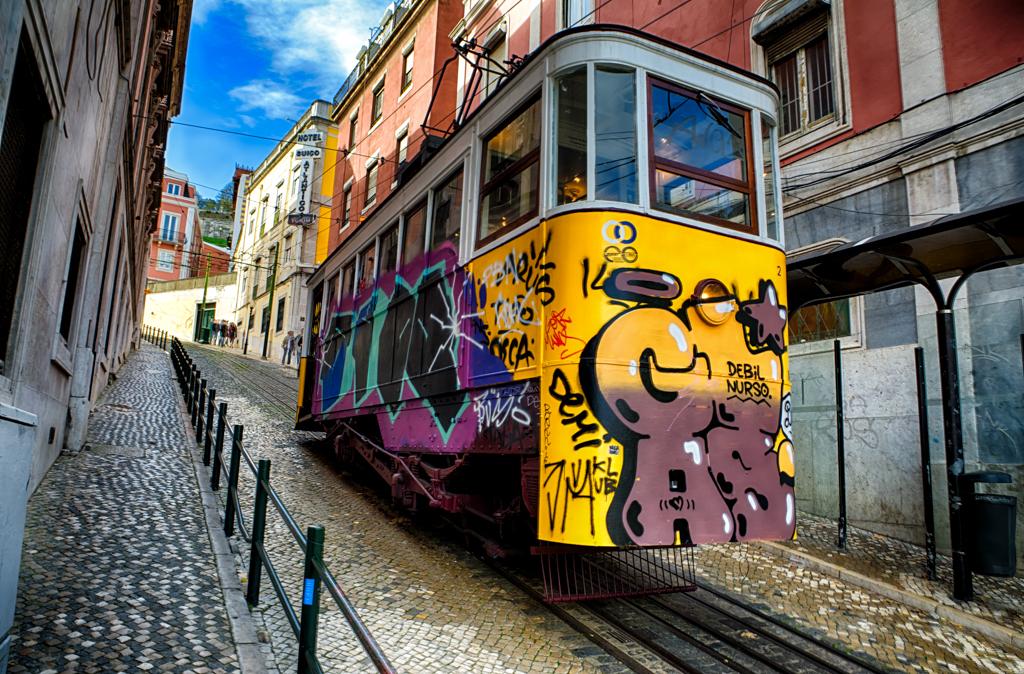 Elevador da Bica, a funicular in Lisbon