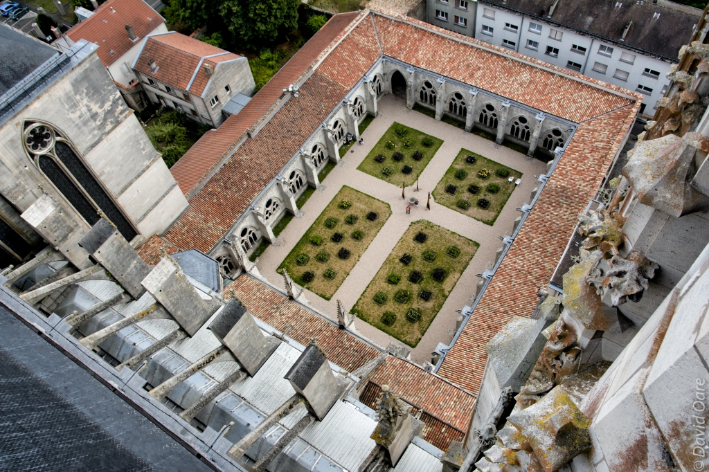 The cloister of the cathedral in Toul