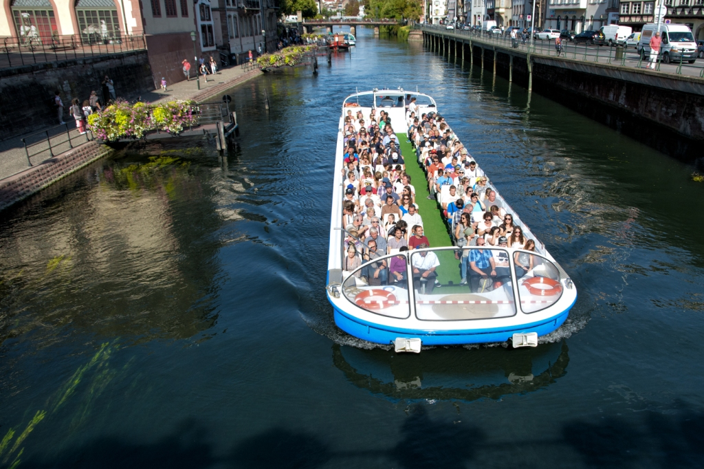 Trip boats are a popular way to see Strasbourg